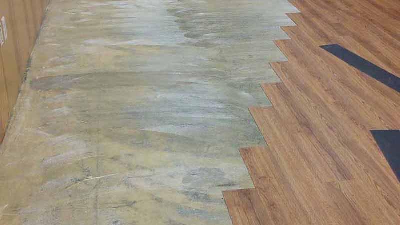 Before-hardwood floor install